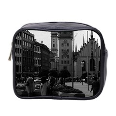 Vintage Germany Munich Church Marienplatz 1970 Twin-sided Cosmetic Case