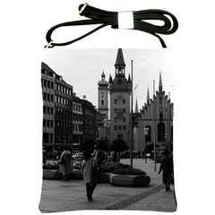 Vintage Germany Munich Church Marienplatz 1970 Cross Shoulder Sling Bag