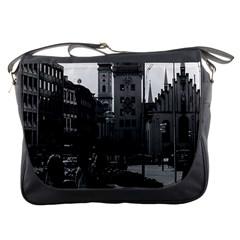 Vintage Germany Munich Church Marienplatz 1970 Messenger Bag