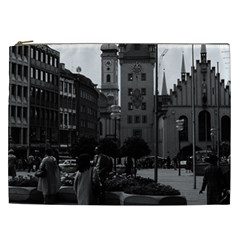 Vintage Germany Munich Church Marienplatz 1970 Cosmetic Bag (xxl)