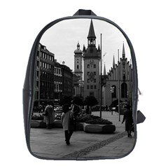 Vintage Germany Munich Church Marienplatz 1970 School Bag (XL)