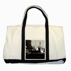 Vintage Germany Border posts East  West Berlin 1970 Two Toned Tote Bag