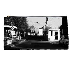 Vintage Germany Border Posts East  West Berlin 1970 Pencil Case