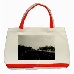 Vintage Germany Berlin The 17th June Street 1970 Red Tote Bag