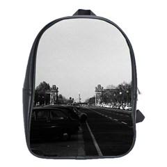 Vintage Germany Berlin The 17th June Street 1970 Large School Backpack