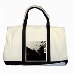 Vintage Germany Frankfurt City street cars 1970 Two Toned Tote Bag