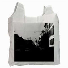 Vintage Germany Frankfurt City street cars 1970 Twin-sided Reusable Shopping Bag