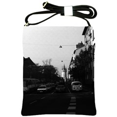 Vintage Germany Frankfurt City street cars 1970 Cross Shoulder Sling Bag