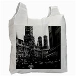 Vintage Germany Munich Frauenkirche Frauenplatz 1970 Single-sided Reusable Shopping Bag Front
