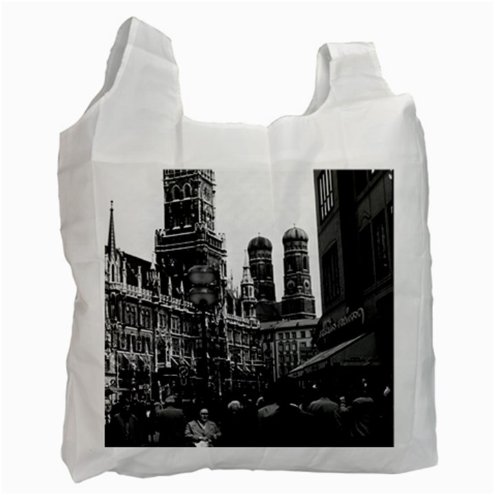 Vintage Germany Munich Frauenkirche Frauenplatz 1970 Single-sided Reusable Shopping Bag