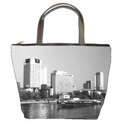 Vintage Germany Frankfurt Main River 1970 Bucket Handbag