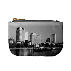 Vintage Germany Frankfurt Main River 1970 Coin Change Purse