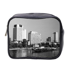 Vintage Germany Frankfurt Main river 1970 Twin-sided Cosmetic Case
