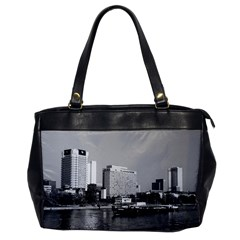 Vintage Germany Frankfurt Main river 1970 Single-sided Oversized Handbag