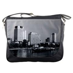 Vintage Germany Frankfurt Main River 1970 Messenger Bag