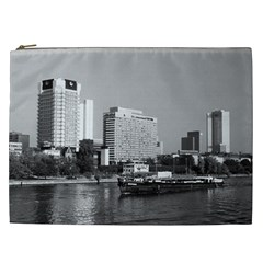 Vintage Germany Frankfurt Main river 1970 Cosmetic Bag (XXL)