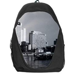 Vintage Germany Frankfurt Main river 1970 Backpack Bag