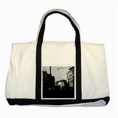 Vintage Germany Frankfurt City street 1970 Two Toned Tote Bag