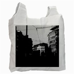 Vintage Germany Frankfurt City street 1970 Twin-sided Reusable Shopping Bag