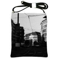 Vintage Germany Frankfurt City Street 1970 Cross Shoulder Sling Bag