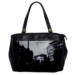 Vintage Germany Frankfurt City street 1970 Single-sided Oversized Handbag