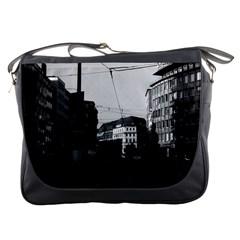 Vintage Germany Frankfurt City Street 1970 Messenger Bag