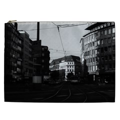 Vintage Germany Frankfurt City street 1970 Cosmetic Bag (XXL)