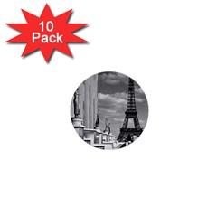 Vintage France Paris Eiffel Tour Chaillot Palace 1970 10 Pack Mini Button (round)