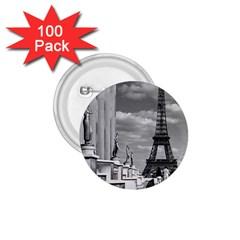 Vintage France Paris Eiffel Tour Chaillot Palace 1970 100 Pack Small Button (round)