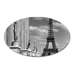 Vintage France Paris Eiffel tour Chaillot palace 1970 Large Sticker Magnet (Oval)