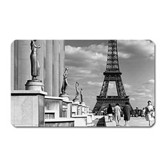 Vintage France Paris Eiffel tour Chaillot palace 1970 Large Sticker Magnet (Rectangle)
