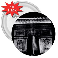 Vintage France Paris Triumphal arch 1970 10 Pack Large Button (Round)