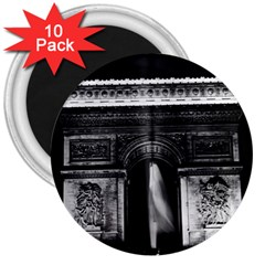 Vintage France Paris Triumphal Arch 1970 10 Pack Large Magnet (round)