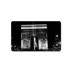 Vintage France Paris Triumphal arch 1970 Name Card Sticker Magnet