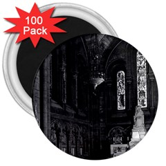 Vintage France Paris sacre Coeur basilica virgin chapel 100 Pack Large Magnet (Round)