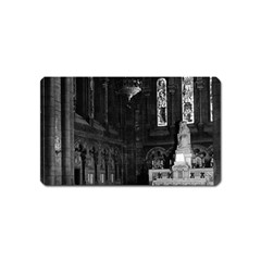 Vintage France Paris sacre Coeur basilica virgin chapel Name Card Sticker Magnet