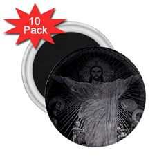 Vintage France Paris Sacre Coeur Basilica Dome Jesus 10 Pack Regular Magnet (round)
