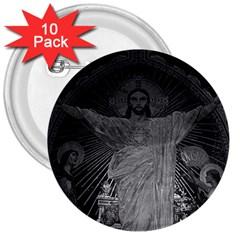 Vintage France Paris Sacre Coeur Basilica dome Jesus 10 Pack Large Button (Round)