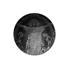 Vintage France Paris Sacre Coeur Basilica dome Jesus Large Sticker Magnet (Round)