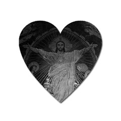 Vintage France Paris Sacre Coeur Basilica dome Jesus Large Sticker Magnet (Heart)