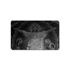Vintage France Paris Sacre Coeur Basilica dome Jesus Name Card Sticker Magnet