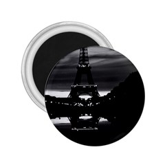 Vintage France Paris Eiffel tower reflection 1970 Regular Magnet (Round)