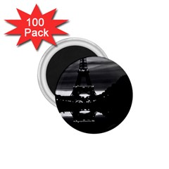 Vintage France Paris Eiffel Tower Reflection 1970 100 Pack Small Magnet (round)