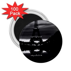 Vintage France Paris Eiffel tower reflection 1970 100 Pack Regular Magnet (Round)