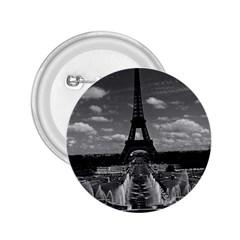 Vintage France Paris Fontain Chaillot Tour Eiffel 1970 Regular Button (Round)
