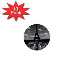 Vintage France Paris Fontain Chaillot Tour Eiffel 1970 10 Pack Mini Button (Round)