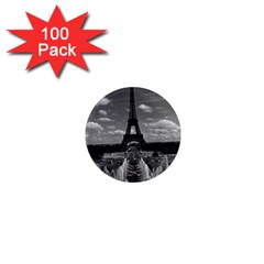 Vintage France Paris Fontain Chaillot Tour Eiffel 1970 100 Pack Mini Magnet (round)