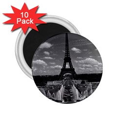 Vintage France Paris Fontain Chaillot Tour Eiffel 1970 10 Pack Regular Magnet (round)