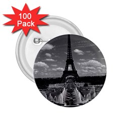 Vintage France Paris Fontain Chaillot Tour Eiffel 1970 100 Pack Regular Button (Round)