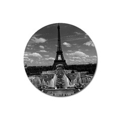 Vintage France Paris Fontain Chaillot Tour Eiffel 1970 Large Sticker Magnet (Round)